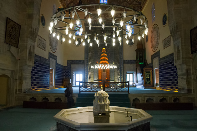 Inside Bursa Mosque