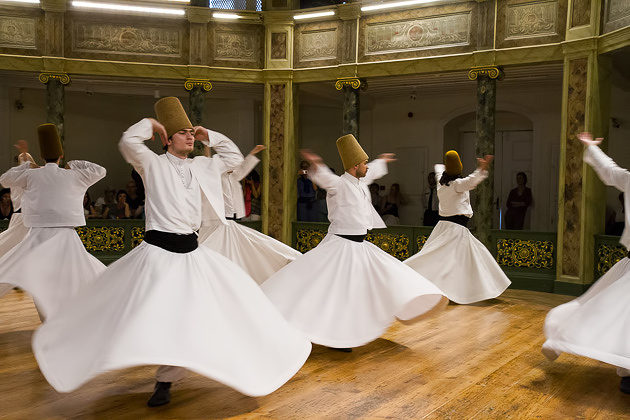 Whirling Dervishes at the Galata Mevlevihanesi