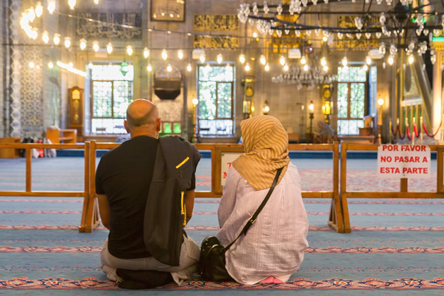 Couple In Mosque Istanbul