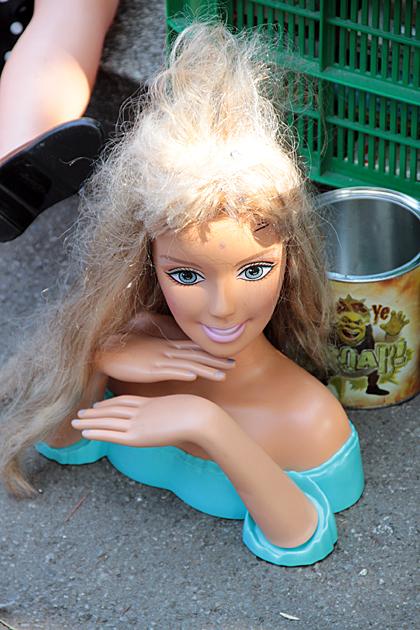 Posting Barbie Head