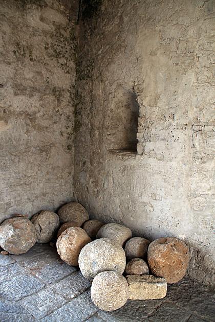 Canon Balls Palermo Sicily