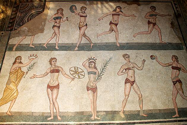 Mosaic Bikini Girls