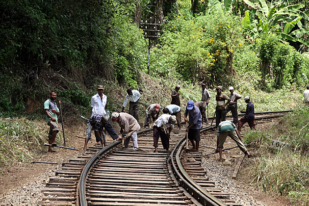 Sri Lanka Train Construction Workers