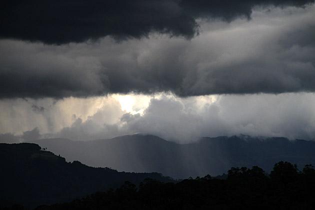 Rain over Kandy