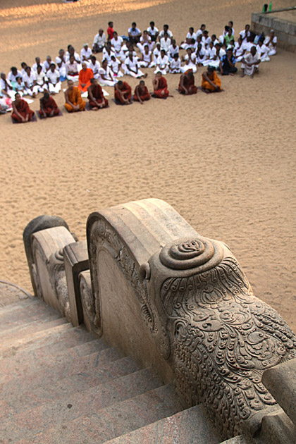 Worshipping Buddha