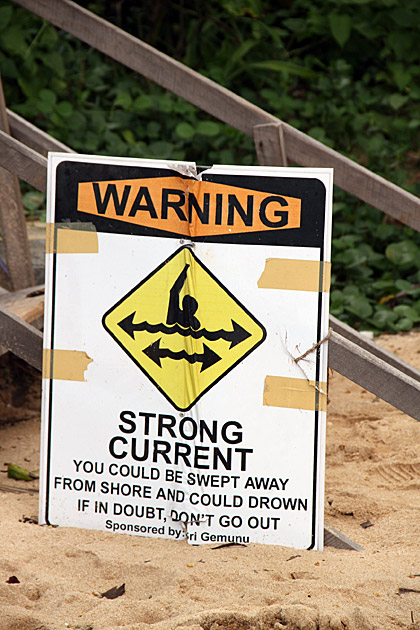 Strong Current warning