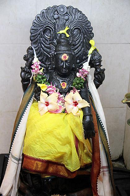 Black Hindu Statue