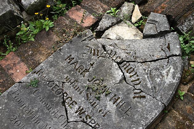 Broken Grave Stone