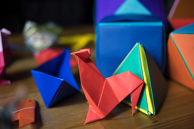 folding paper at the origami kaikan tokyo for 91 days