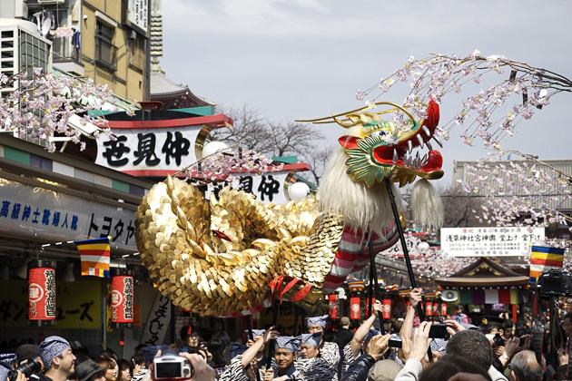 The Golden Dragon Dance of Senso-Ji