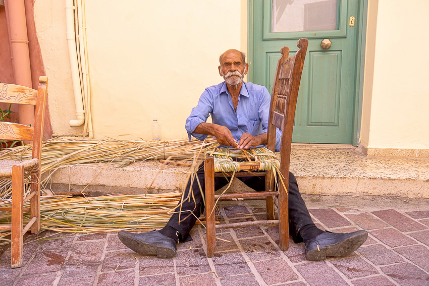 Traditional Chair Maker Chania Crete