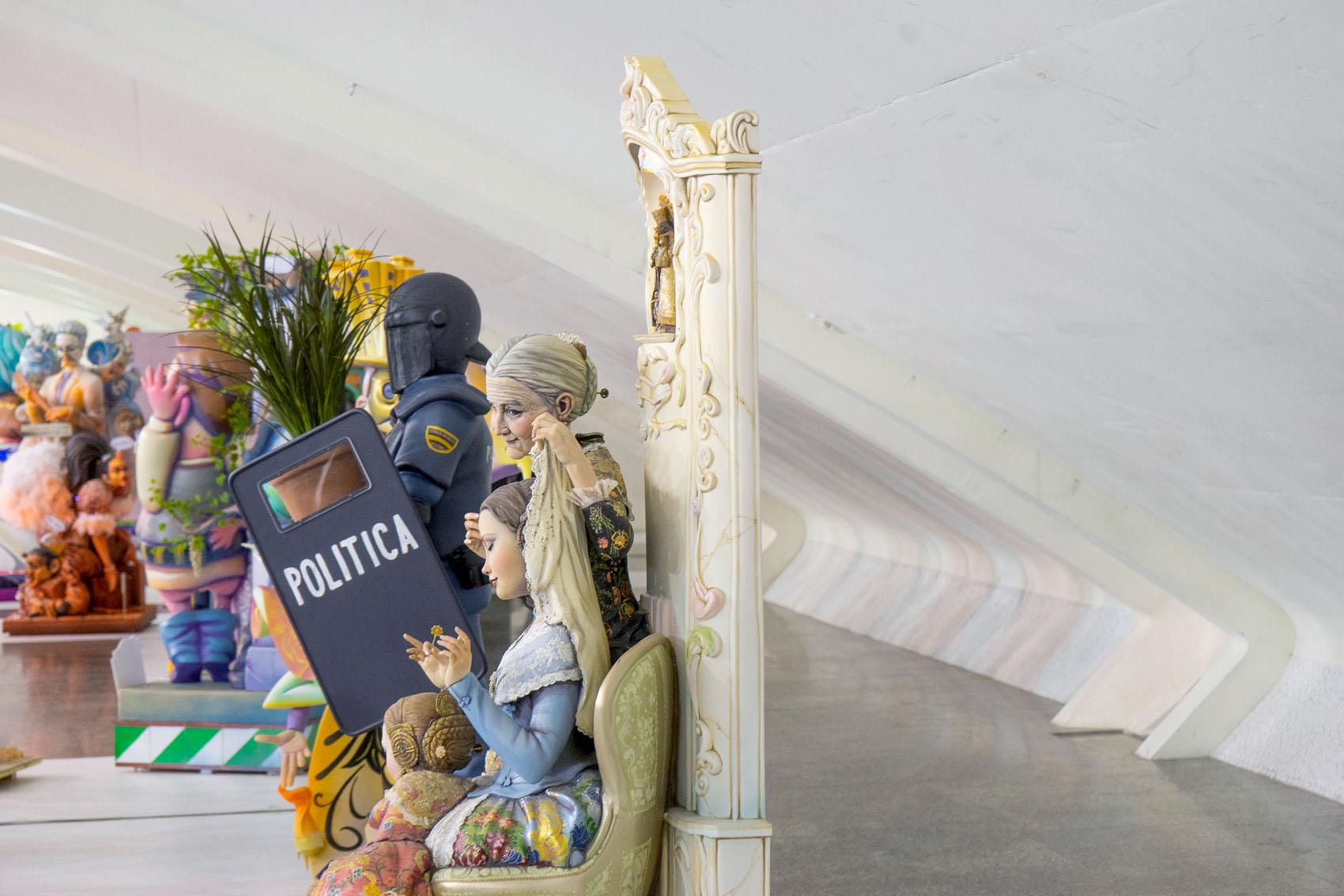 Ninot exhibition Fallas 2020