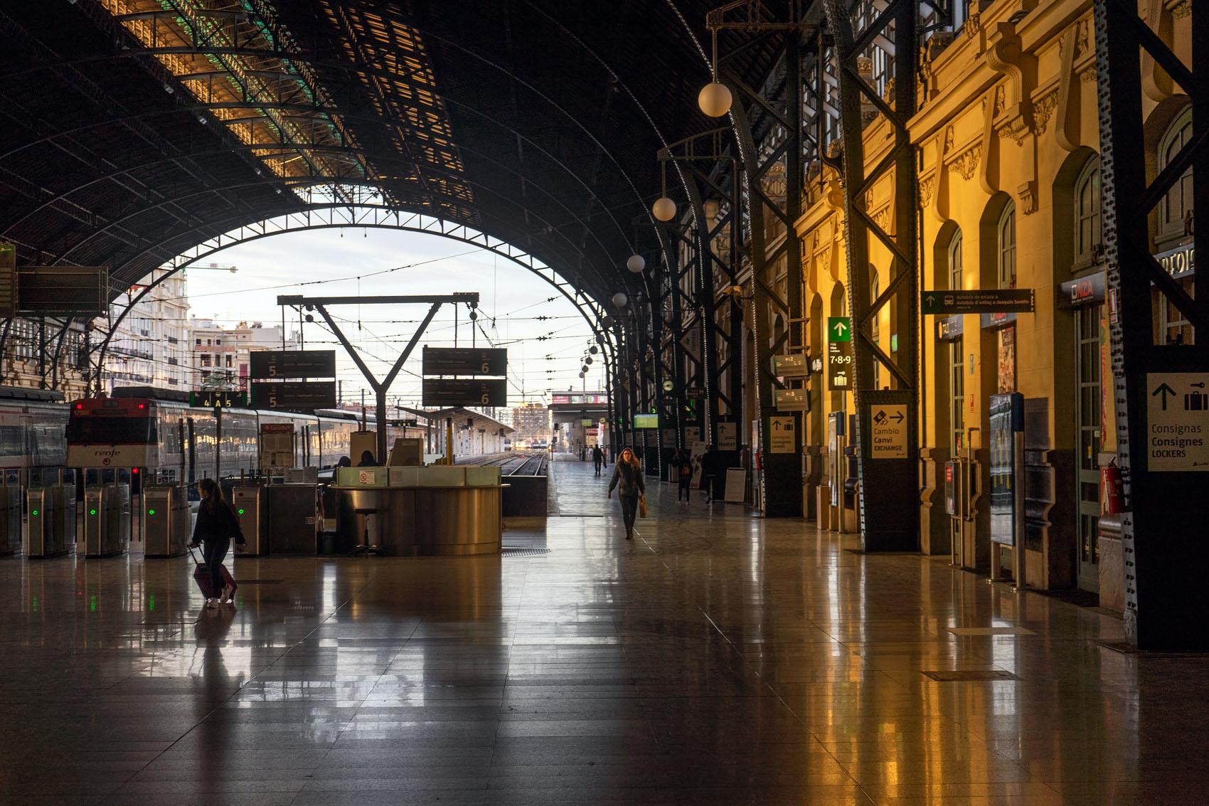 Valencia Train Station Morning Light