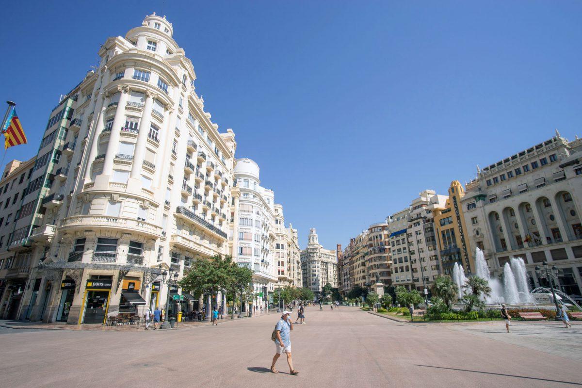 Tourist In Empty Valencia