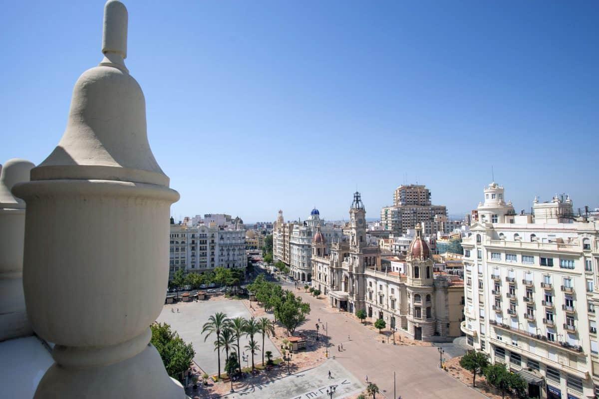 Der Neue Ayunatamiento Platz Valencia