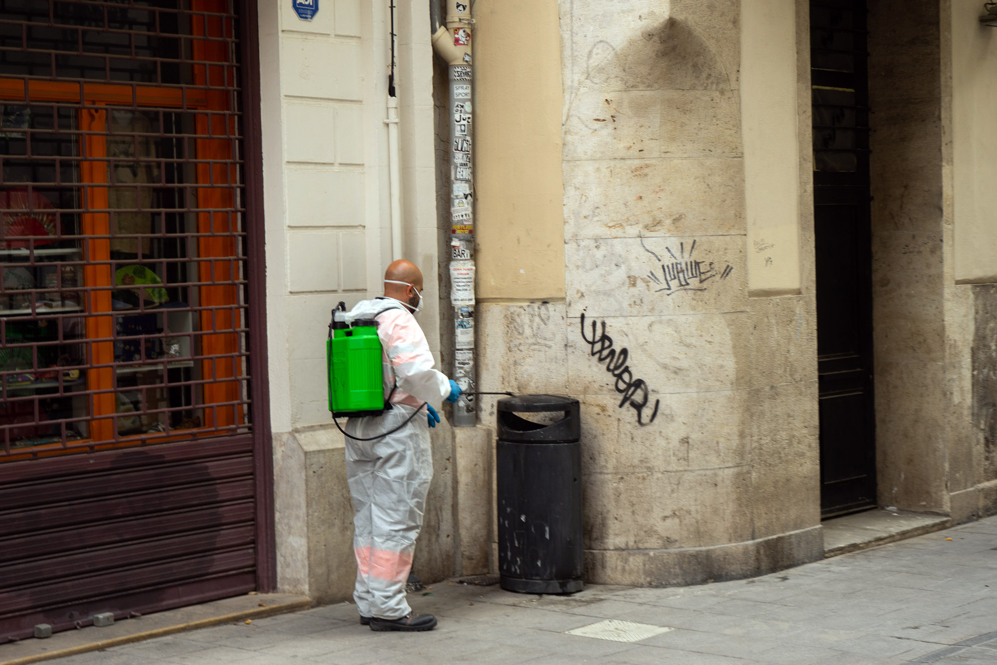 Disinfecting Streets Valencia