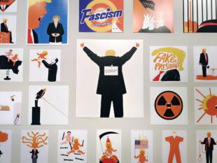 Edel Rodriguez Trump Exhibition Valencia