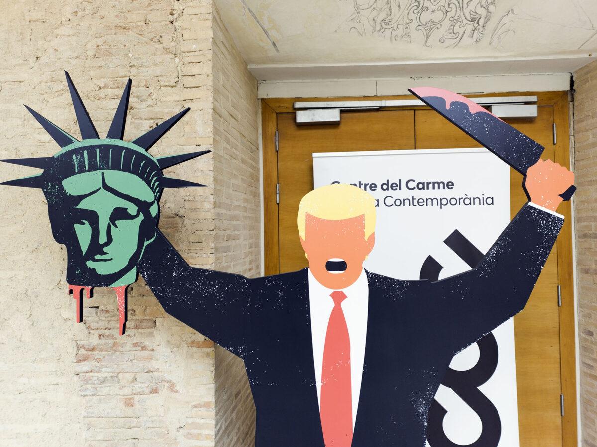 Trump Decapitating Statue of Liberty