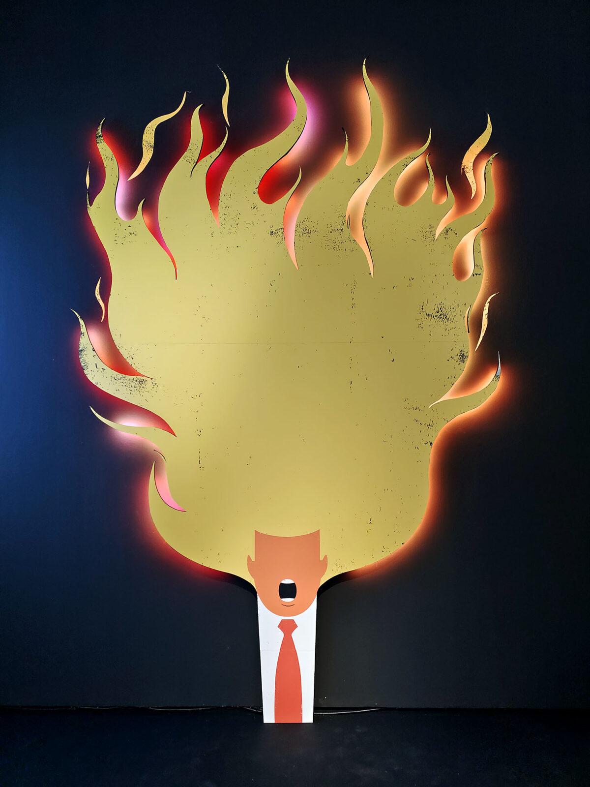Trump Hair on Fire