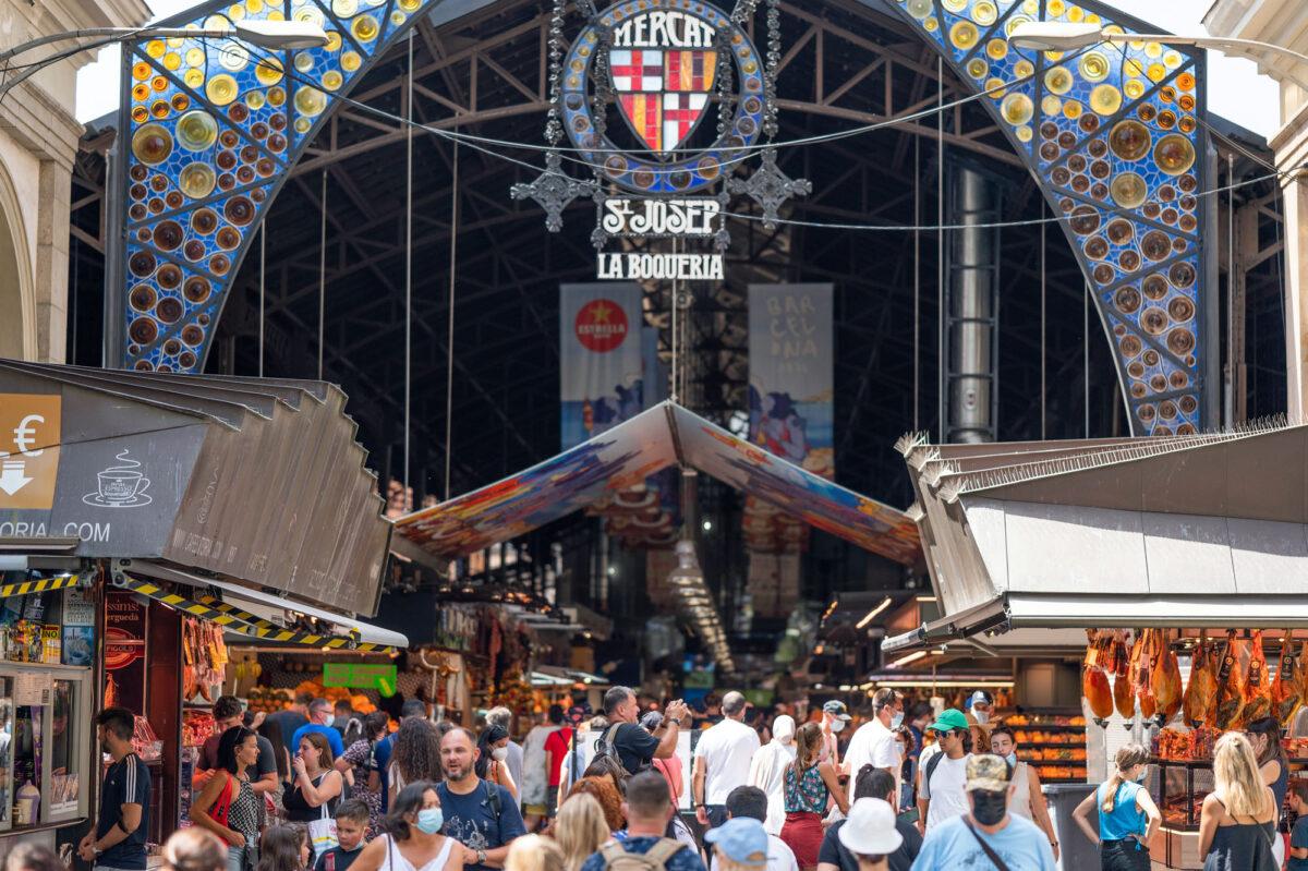 Stock Photo Mercado de La Boqueria Barcelona