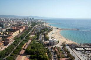Beach Barcelona Photo Aerial